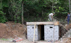 Photographic Overview of Constructing a storm shelter.